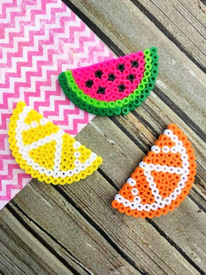 Fruit Perler Bead Magnets