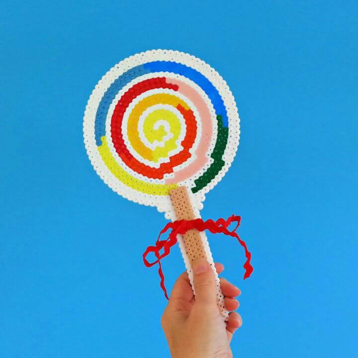 Giant Hama Bead Lollipop