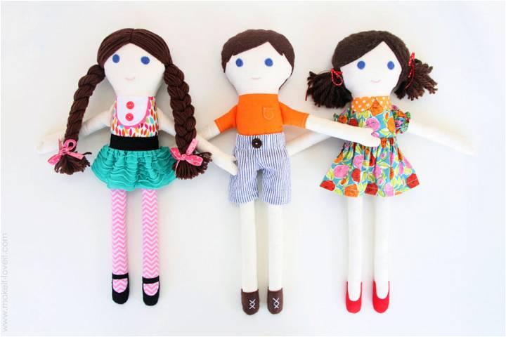 Girl Boy Fabric Doll Sewing Pattern