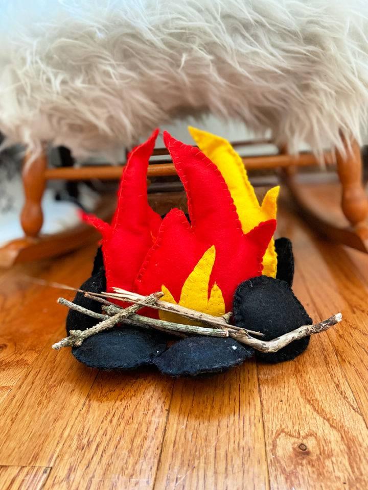 How To Stitch A Felt Campfire Free Pattern