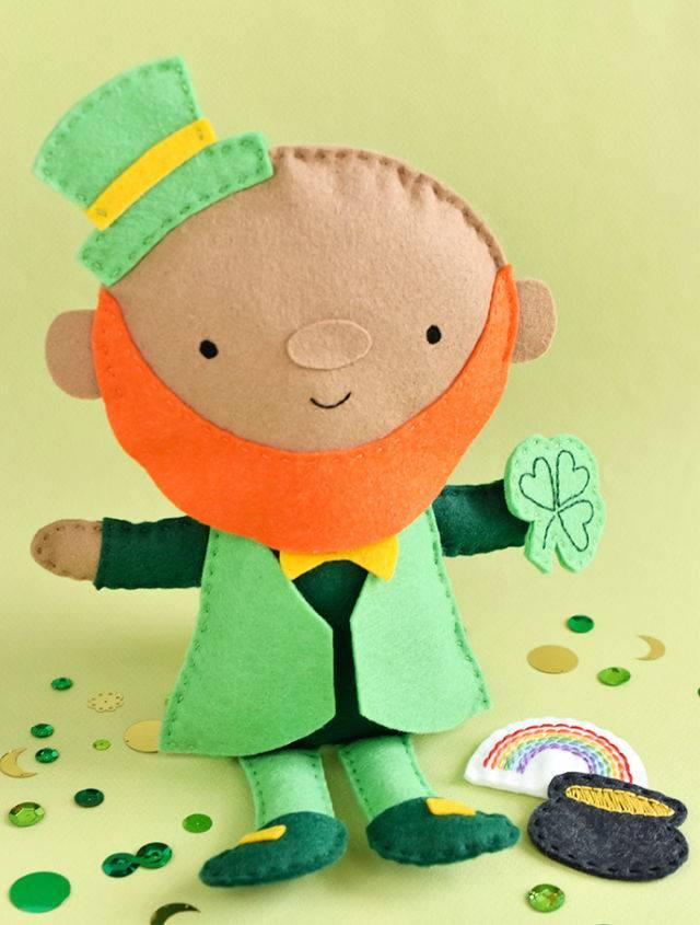 How to Make A Felt Leprechaun Doll