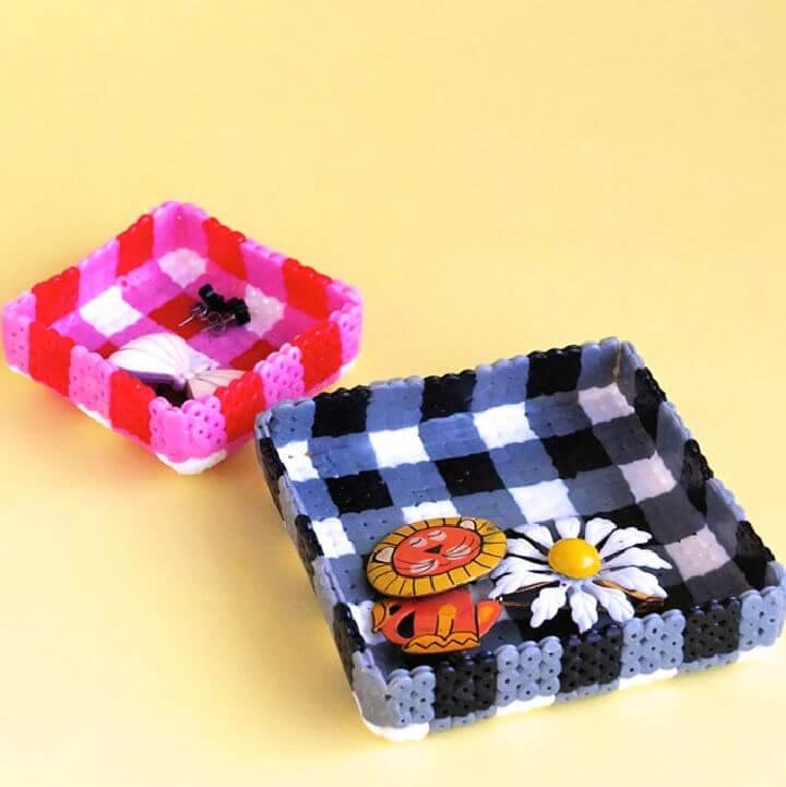 Jewellery Trays from Perler Beads
