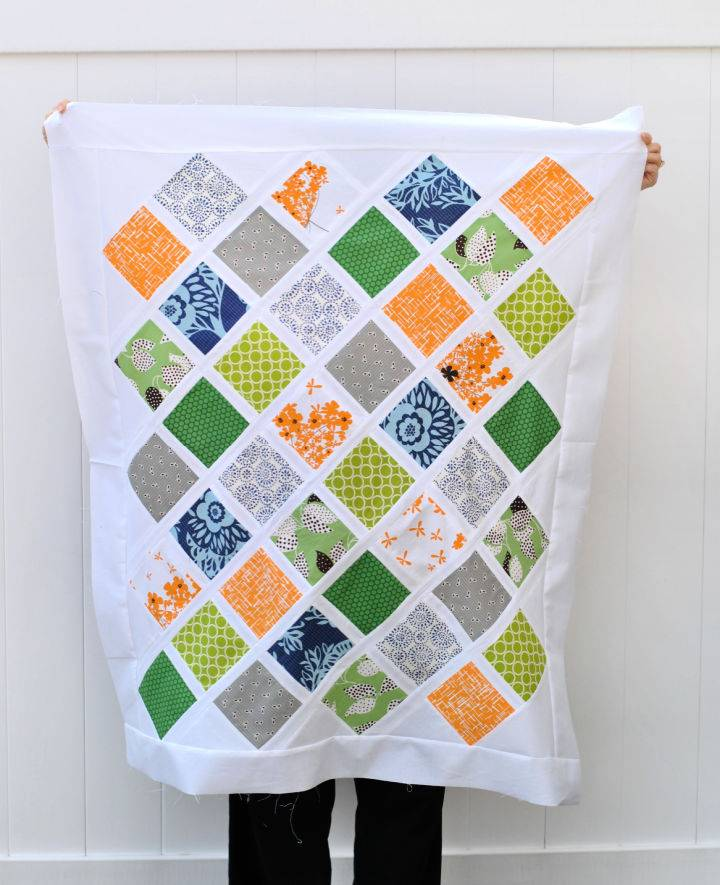 Jungle Lattice Baby Quilt Pattern