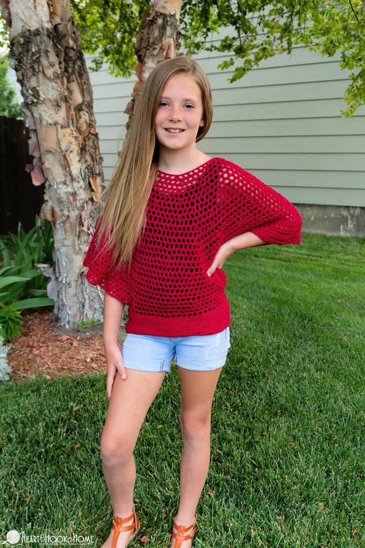 Kids Flowy Mesh Top Crochet Pattern