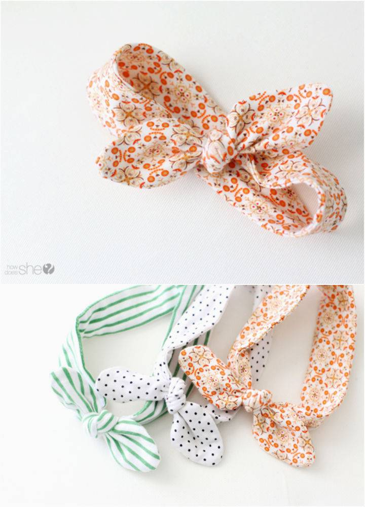 Knotted Baby Head Tie With Free Pattern
