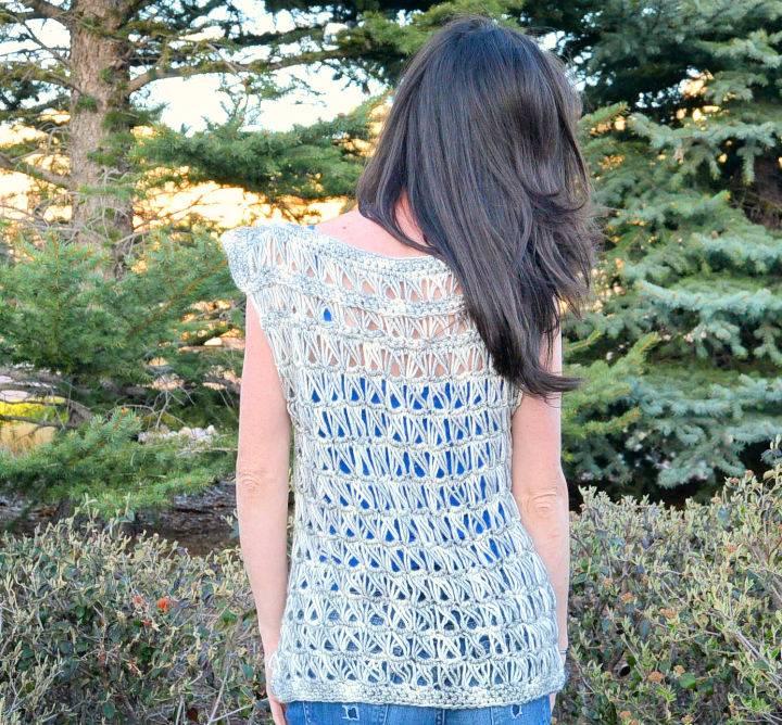 Lace Crochet Broomstick Summer Top