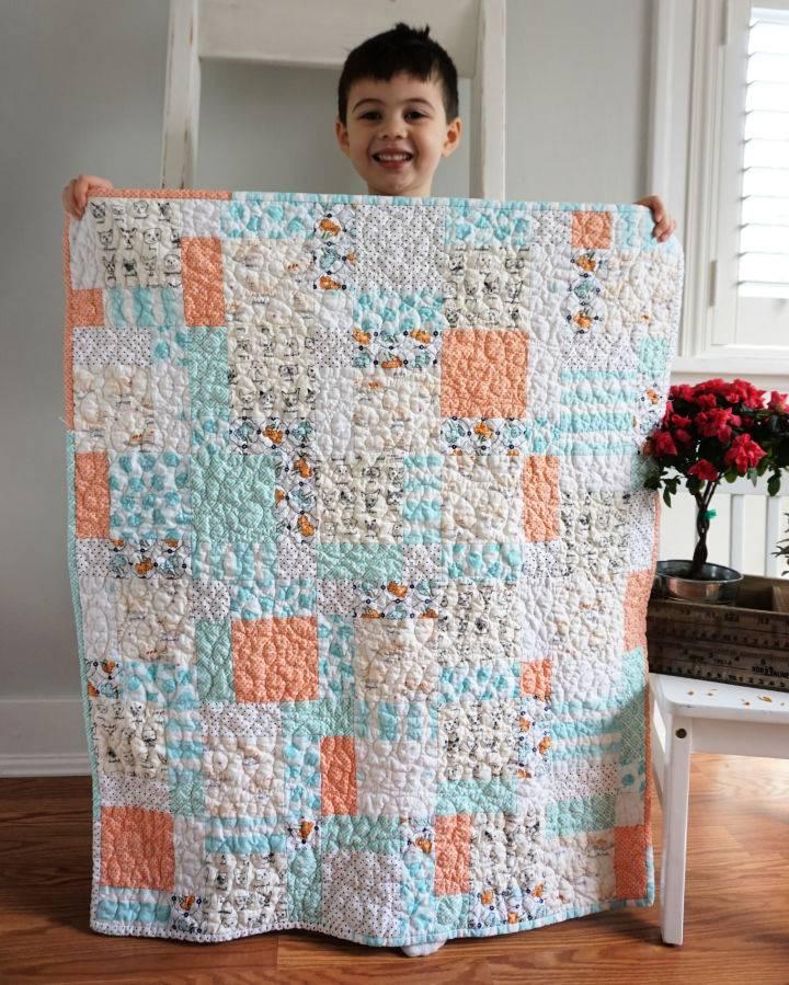 Low Volume Baby Boy Quilt Pattern