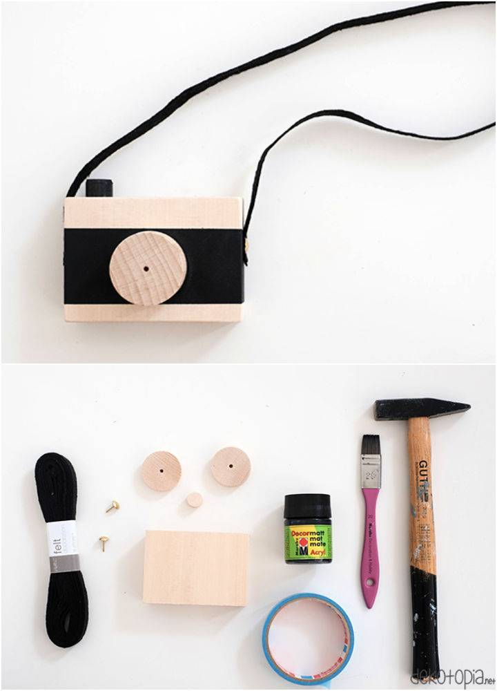 Make Toy Camera Out Of Wood Yourself