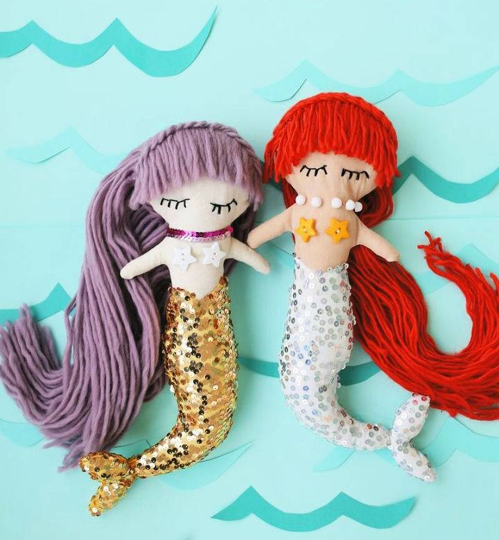 Mermaid Plush Dolls With Downloadable Pattern