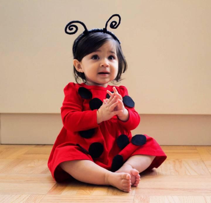No Sew DIY Ladybug Baby Costume