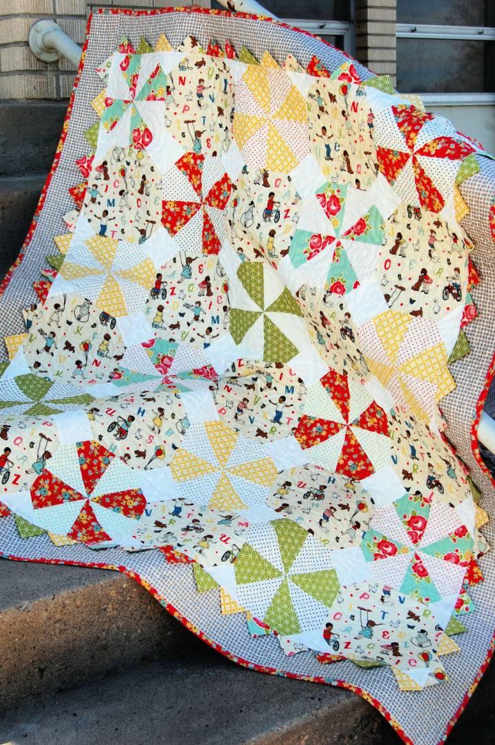 Prairie Pinwheel Baby Quilt