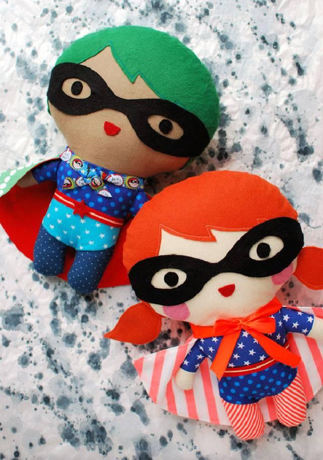 Soft Doll Pattern Superhero Soft Toy