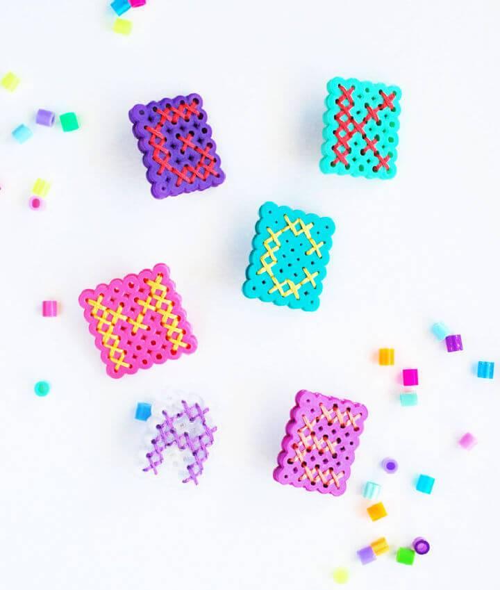 Square Perler Bead Monograms