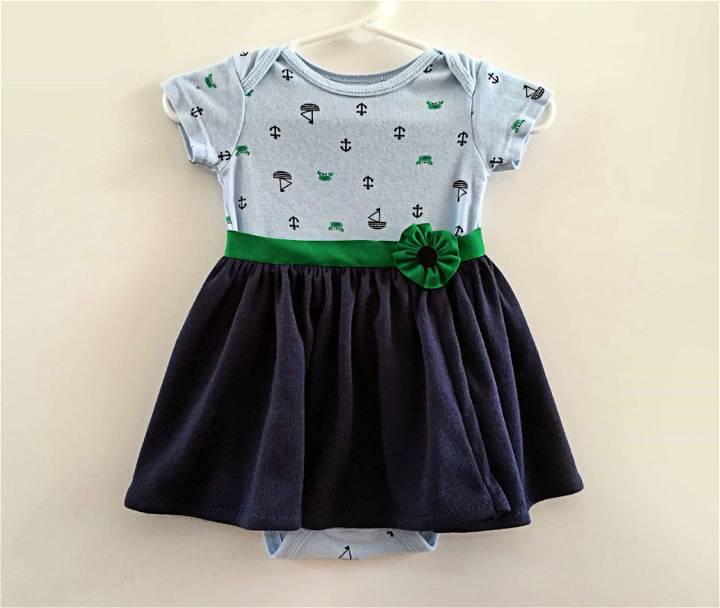 Wrap Skirt Onesie Pattern