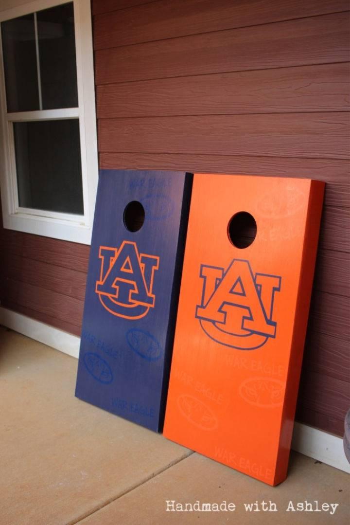 Auburn Themed Cornhole Boards