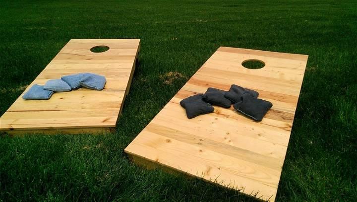Cornhole Boards Using Pallets