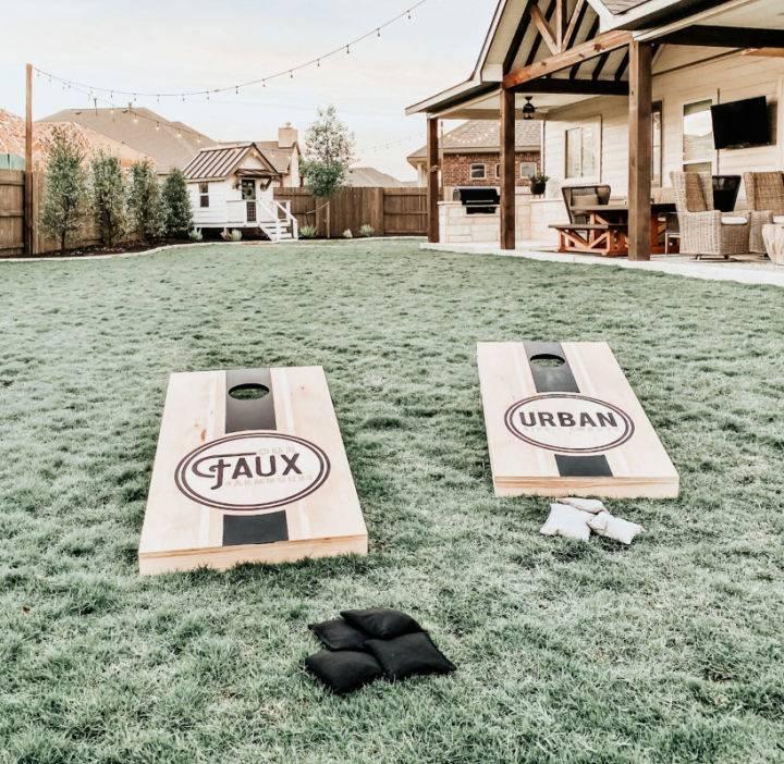 DIY Backyard Cornhole Boards