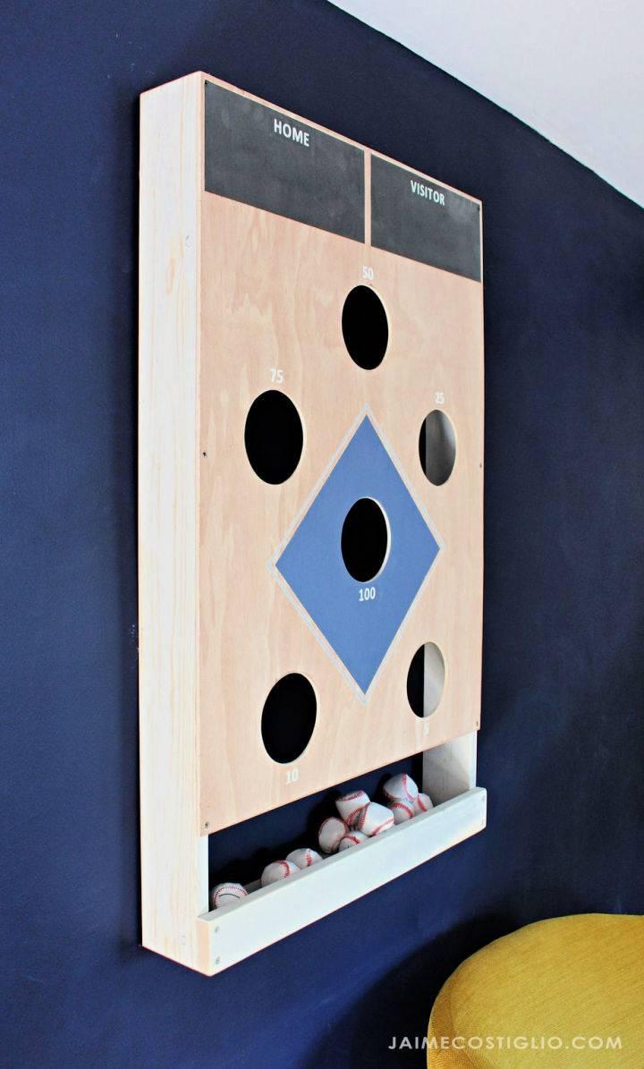 DIY Baseball Beanbag Toss Game
