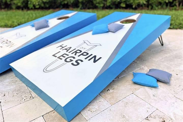 Hairpin Leg Cornhole Boards