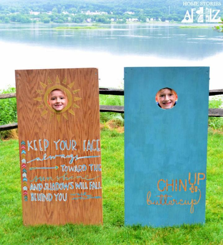 Painted Cornhole Boards