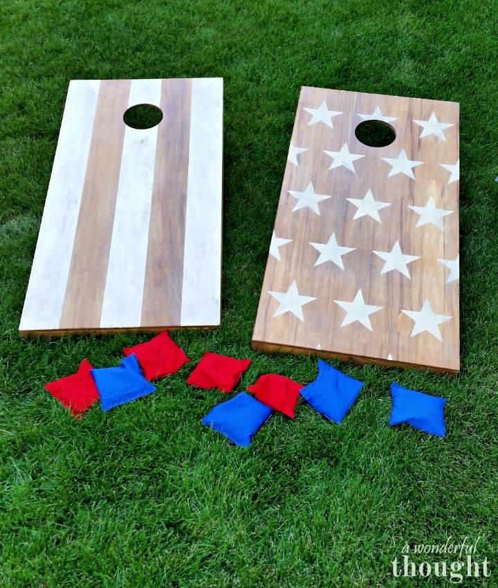 Stars and Stripes Cornhole Board