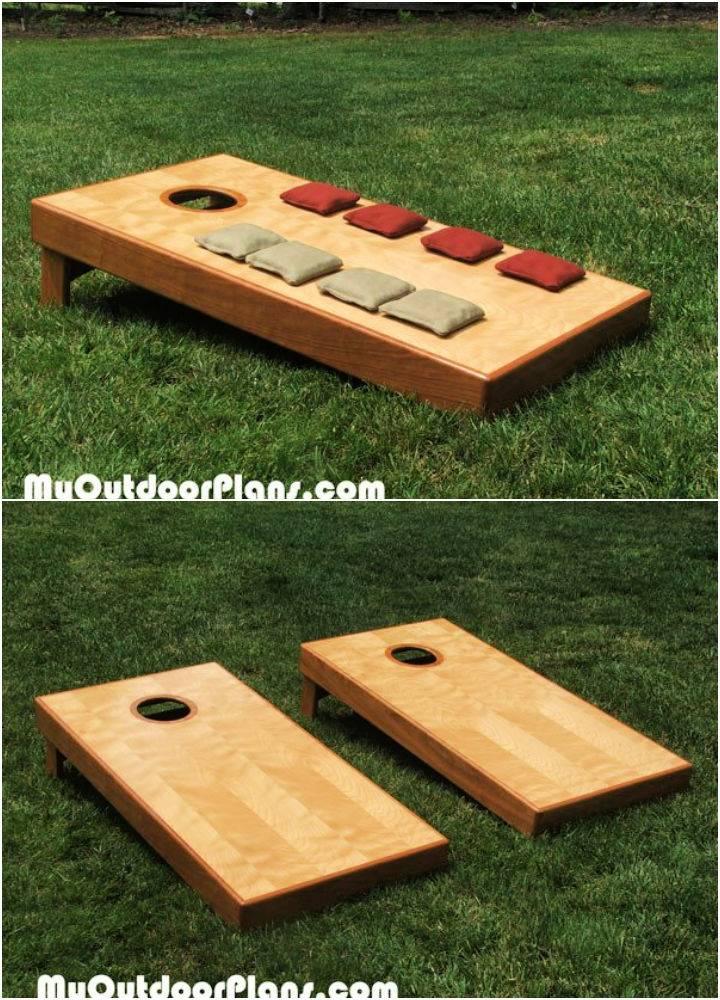 Wooden Cornhole Game Board