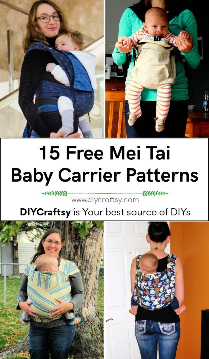 15 Free Mei Tai Baby Carrier Patterns DIY Baby Carriers DIY baby sling