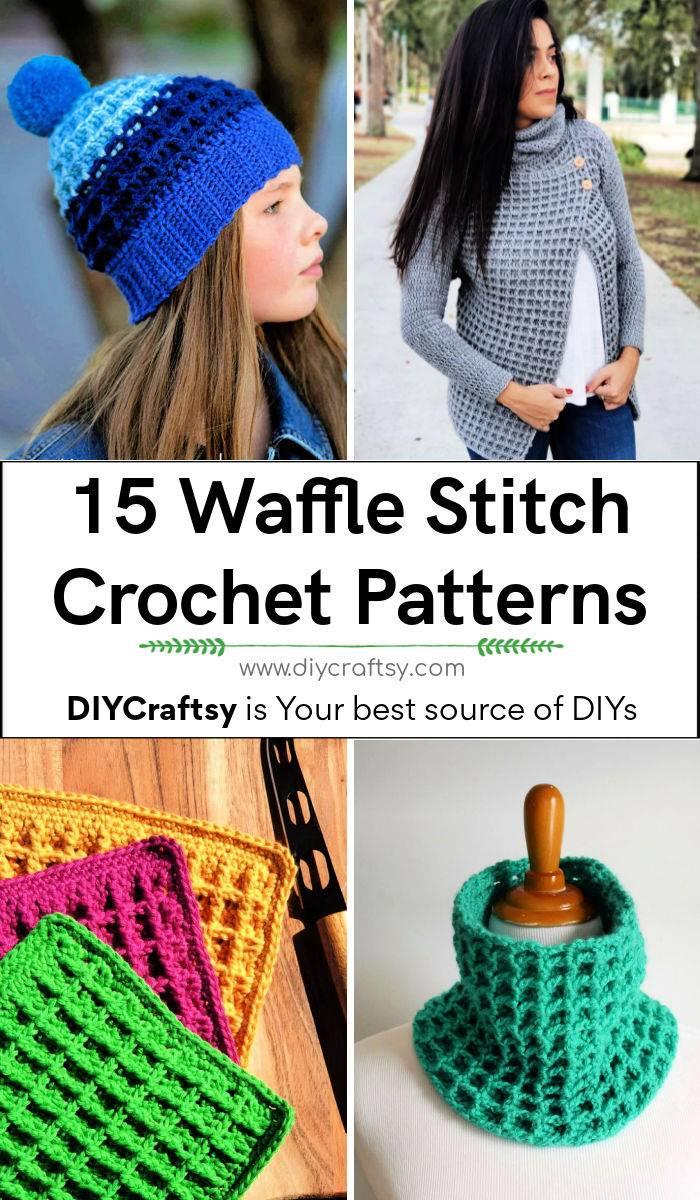 15 Free Waffle Stitch Crochet Patterns