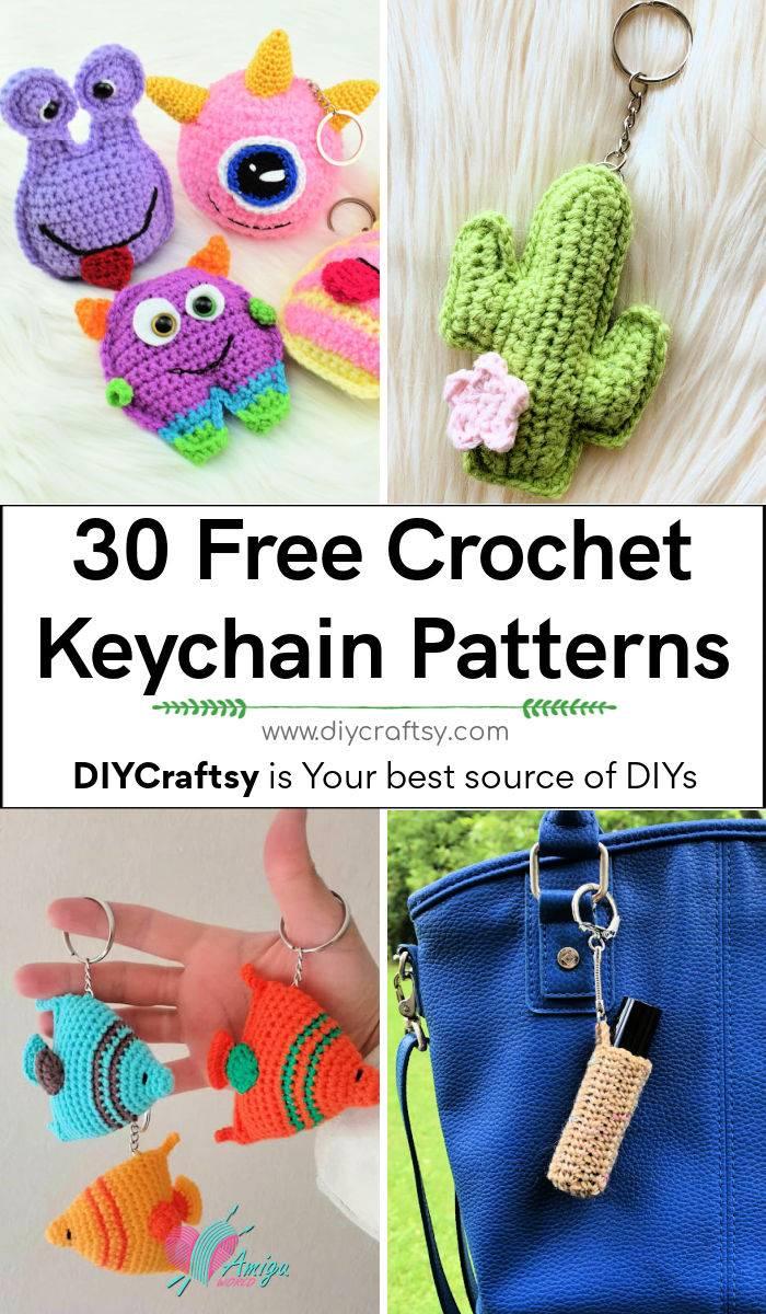 30 Best Free Crochet Keychain Patterns