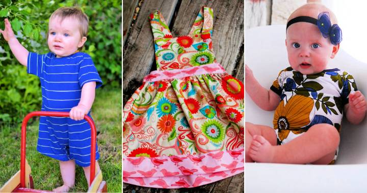 40 Free Baby Clothes Patterns easy Baby Dress Patterns for Sewing