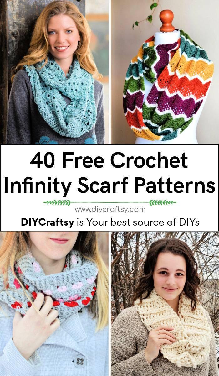 40 Free Crochet Infinity Scarf Patterns