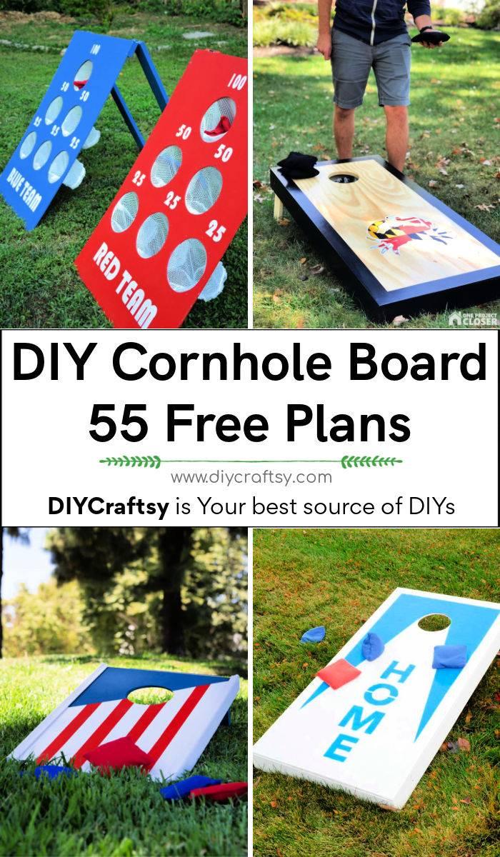 55 Best free DIY Cornhole Board Plans
