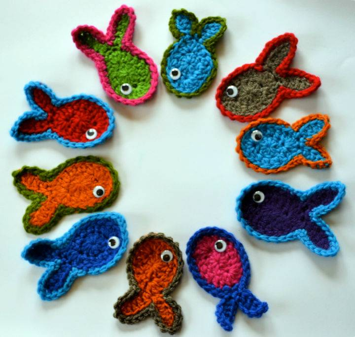 Crochet Lots Of Little Fishes Pattern