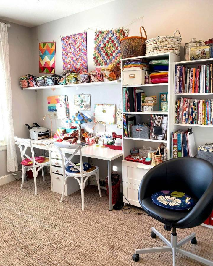 DIY Additions to Improve Your Home Craft Room Add Storage Options