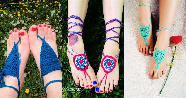 free crochet barefoot sandals patterns