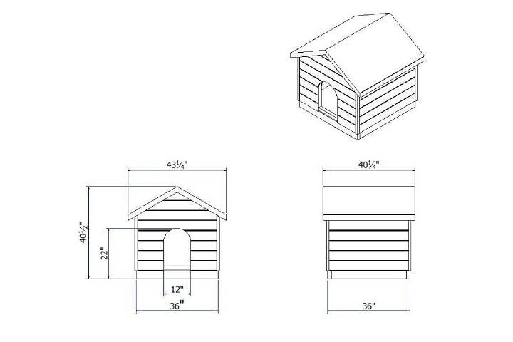 3x3 dog house plan blueprint