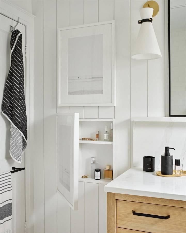 hidden storage ideas in the bathroom 1